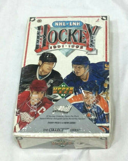 Vintage 1991 1992 Upperdeck Hockey French Foil Wax Box 36 Packs Low Series