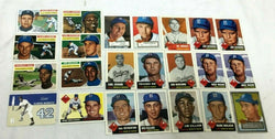 1955 Topps All Brooklyn Dodgers Reprint Card Lot Roe Newcombe Hodges Robinson