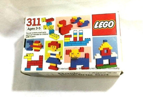 1984 Vintage LEGO Basic Building Block Set #311 Sealed MISB Boxed FREESHIP