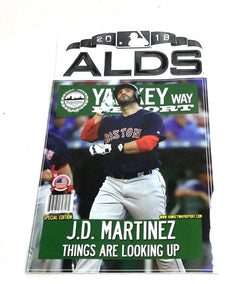 2018 ALDS Division Series Yawkey Way Report Red Sox Program Magazine JD Martinez