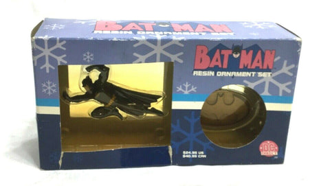 NEW 2001 DC Direct Batman Christmas Xmas Resin Ornament Set Boxed FREESHIPPING