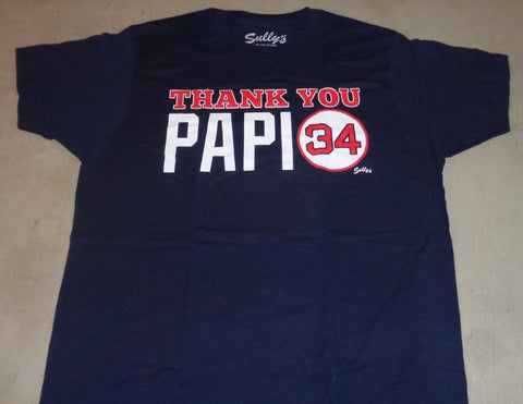 Boston Fenway Red Sox David Ortiz Thank You Papi Final Game T Shirt Mens Small
