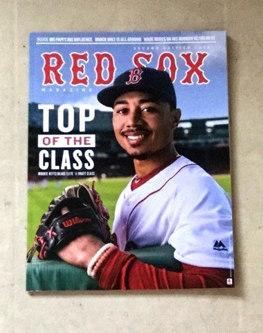 May 2017 Official Fenway Park Boston Red Sox Program Magazine Mookie Betts Cover