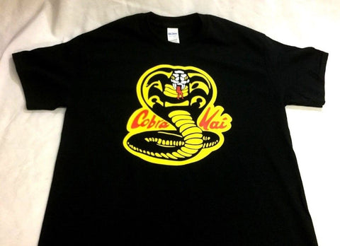 Karate Kid Cobra Kai Dojo Logo T-Shirt Mens Size Medium FREESHIP 1984 Movie