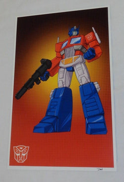 G1 Transformers Autobot Optimus Prime Poster Picture 11x17 Box Art Grid 1t Issue
