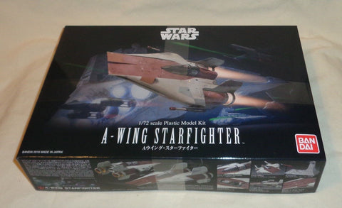 NEW Bandai Star Wars A Wing Fighter Plastic Model Kit Box Set 1/72 Scale FREESHP