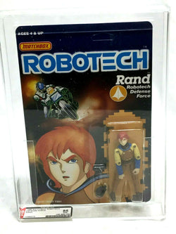1986 Vintage Matchbox Robotech Rand Figure MOC Sealed Carded AFA 85 Mint