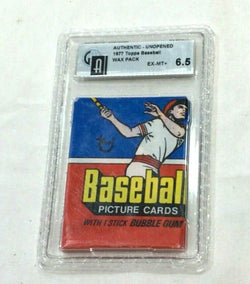Vintage 1977 Topps Baseball Wax Pack Graded GAI 6.5 Not PSA Possible Ryan