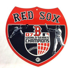 2007 World Series Champions Boston Red Sox Plastic Road Street Sign 12x10 Size
