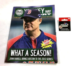 Yawkey Way Report 2013 World Series Boston Red Sox Cardinals Program Pin Lot