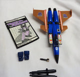 1985 Vintage G1 Transformers Jet Dirge Complete Cardback Weapons FREESHIP