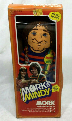 1979 Vintage Mattel Talking Rag Doll Mork & Mindy Boxed Sealed New FREESHIP