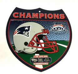 2004 Superbowl 39 World Champions New England Patriots Plastic Road Street Sign