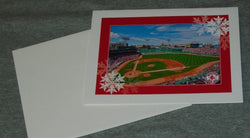 Boston Red Sox Fenway Park Happy Holidays Xmas Hanukkah Card Envelope FREESHIP