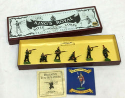 Britains Kings Royal Rifle Corps Metal Model Diecast Boxed Set #8822 Toy Soldier
