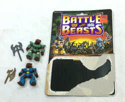 1987 Battle Beast Series 1 Danger Dog / Grizzly Bear Figure Cardback Complete