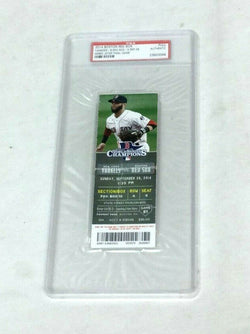 Sept 28 2014 Derek Jeter Last Game Fenway Park Boston Full Ticket PSA Authentic
