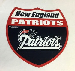 NFL Official New England Patriots Plastic Road Street Sign 12x10 Size FREESHIP