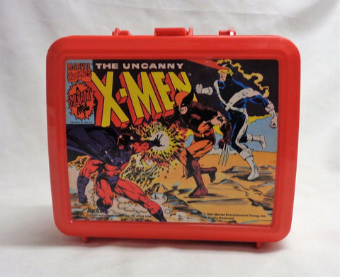 1992 Marvel Comics X-Men Lunch Box Plastic Lunchbox Thermos MINT Tags Aladdin