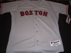 NEW Boston Red Sox Authentic Majestic Grey Road Away Jersey Mens Size Large 44