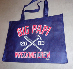 David Ortiz Big Papi Wrecking Crew Boston Red Sox Reusable Tote Bag Grocery