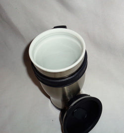 Ceramamug Ceramic Lined Stainless Steel 12oz Travel Mug Cup & Lid Coffee Tea