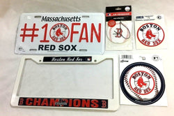 Boston Red Sox Auto Car Truck License Plate Frame Air Fresher Sticker Lot Pack