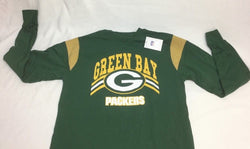 NFL Majestic Green Back Packers Long Sleeve T Shirt Size Medium Green FREESHIP