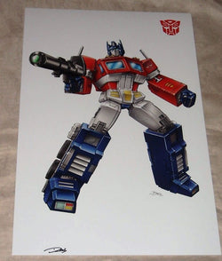 1984 G1 Transformers Optimus Prime Poster 11x17 Box Art Grid Cartoon (4) FREESHP