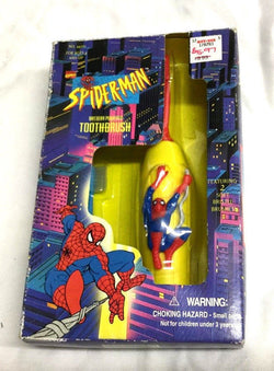1995 Marvel Comics SpiderMan Battery Powered Tooth Brush Sealed Boxed
