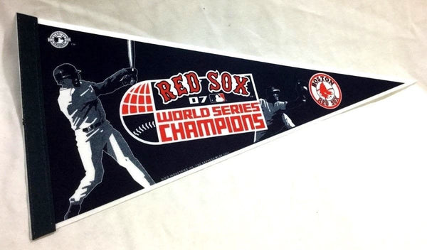 2007 World Series Champions Boston Red Sox Pennant FREESHIP Ortiz Varitek