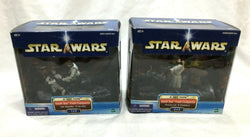 2002 Star Wars Death Star Trash Compactor Set Leia Luke Han Chewbacca Boxed NEW