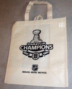 2011 Stanley Cup Champions Boston Bruins Reusable Tote Bag Grocery Recycle Type