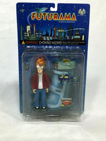2000 Moore Collectibles Futurama Fry Figure Accessories MOC Sealed FREESHIP