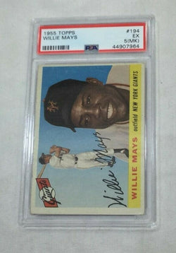 1955 Topps Baseball #194 New York Giants HOF Willie Mays PSA 5.5 (MK) FREESHIP