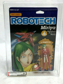 1986 Vintage Matchbox Robotech Miriya Figure MOC Carded Sealed AFA 85 Mint
