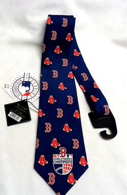 MLB Boston Red Sox 2007 World Series Champions Mens Tie Neckwear Silk FREESHIP