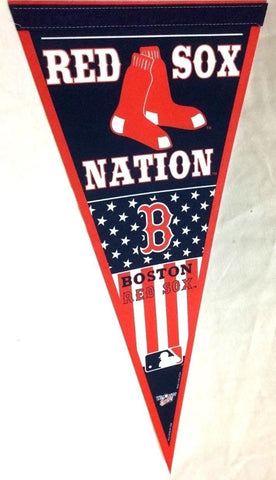 MLB Boston Red Sox Nation Pennant Flag 4th July Fenway Park FREESHIP