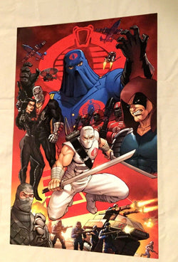 1980s Gi Joe Cobra Team Picture Poster 11x17 Storm Shadow Destro Zartan Firefly