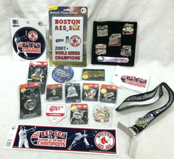 Boston Red Sox 2007 World Series Champions Pin Keychain Sticker Lot FREESHIP