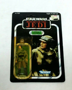 1983 Star Wars Return Jedi ROTJ Princess Leia Combat Poncho Figure 79 Back MOC