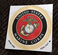 NEW US Marine Corps USMC Eagle Globe & Anchor EGA Foil Sticker Decal FREESHIP