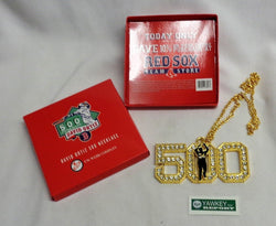 Boston Red Sox David Ortiz Big Papi Final Season 500 Home Runs Necklace Chain