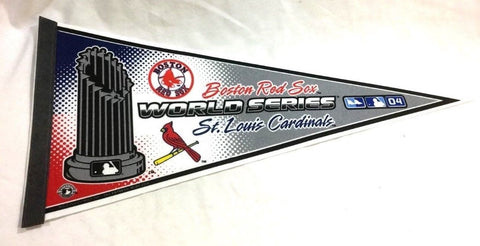 2004 World Series Pennant Boston Red Sox St Louis Cardinals Trophy Logo