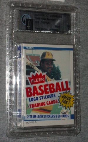 1984 Fleer Baseball Cello Pack Tony Gwynn Front HOF Sealed Graded GAI 9 FREESHIP