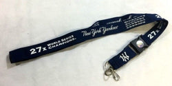 MLB New York Yankees 27X World Series Champions Lanyard Keychain FREESHIP