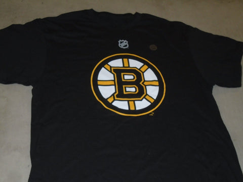 NHL Boston Bruins Black T Shirt Reebok Face Off Series Size Mens Medium FREESHIP