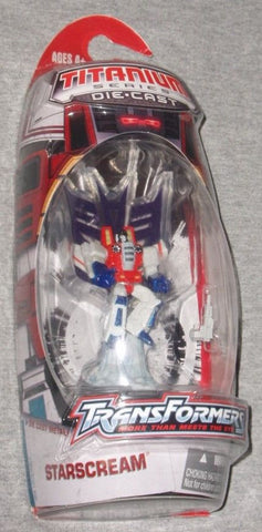 NEW G1 Transformers Titanium Series Diecast Starscream Figure Sealed FREESHIP