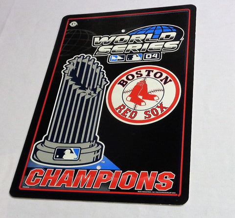 Boston Red Sox 2004 World Series Champions Plastic Parking Sign 12x18 FREESHP