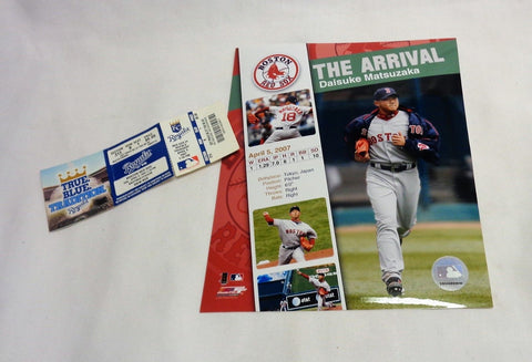 Boston Red Sox Daisuke Matsuzaka 2007 Debut Ticket Picture Photo 8x10 Lot (BB)